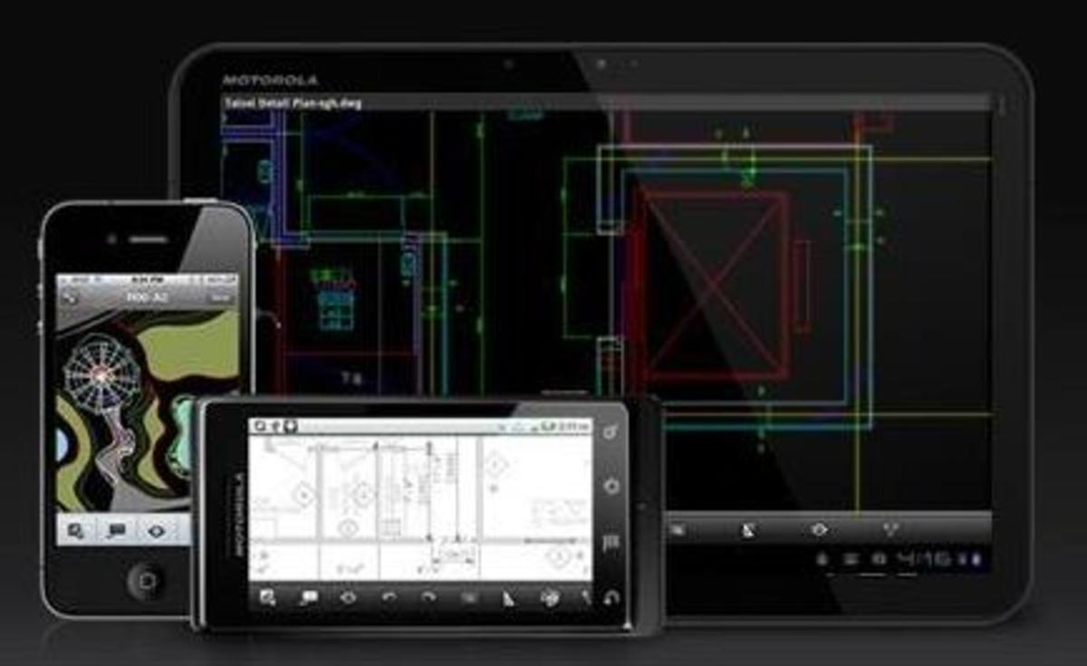 Autocad 2012 let designs in sync to mobile and the web