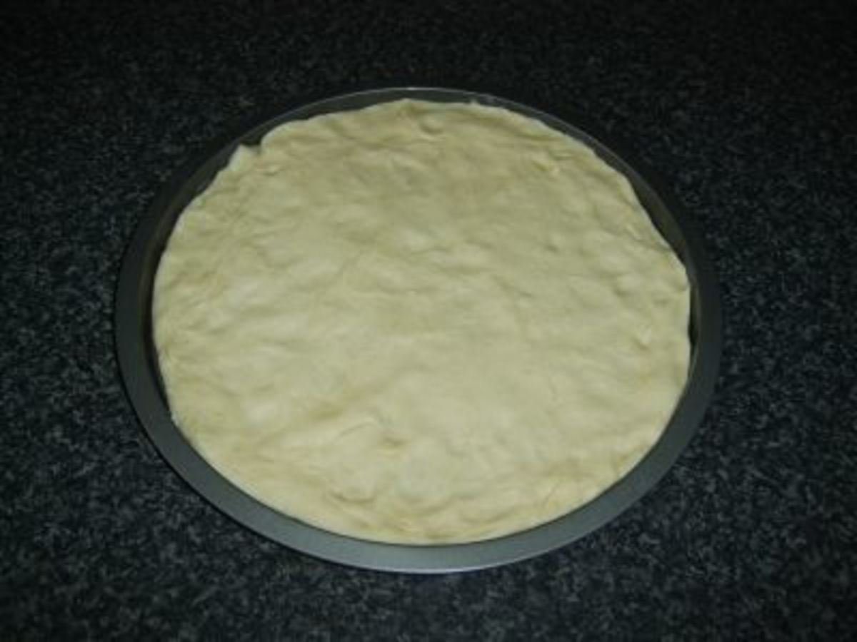 Homemade Pizza Dough and Base