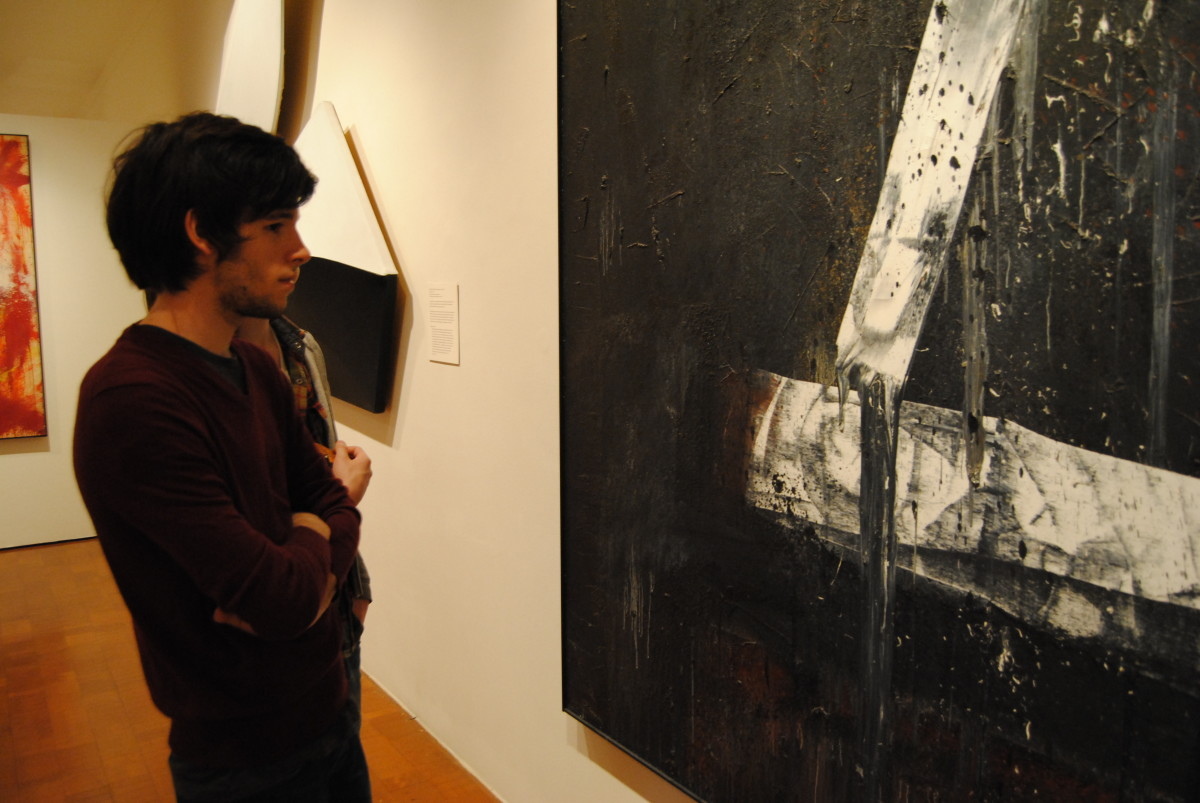 Going to an art gallery with your friends can be a great way to start a conversation on aesthetics and beauty. Modern art is especially good for this purpose.