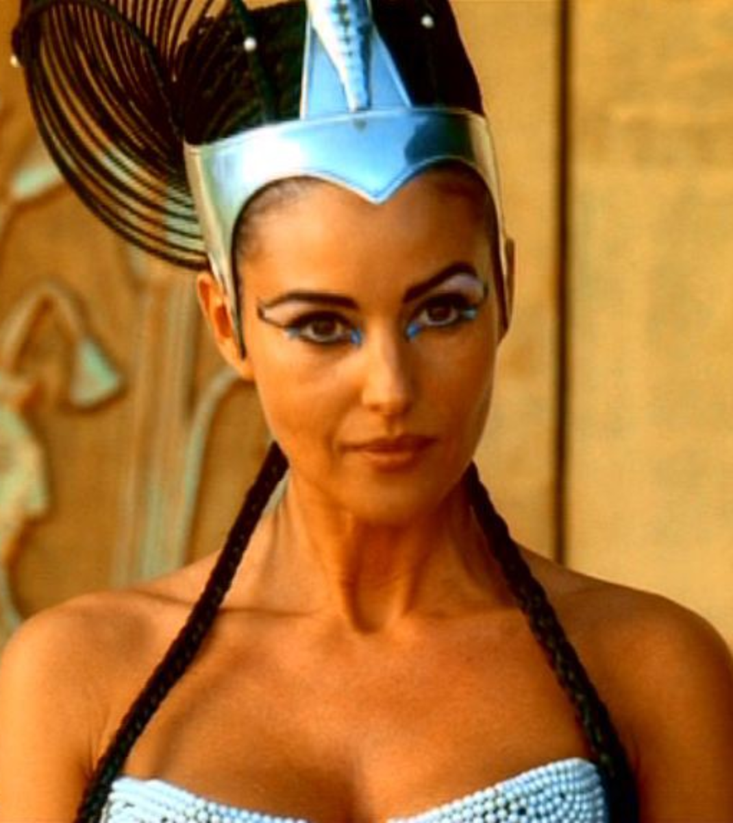 Monica Bellucci as Cleopatra
