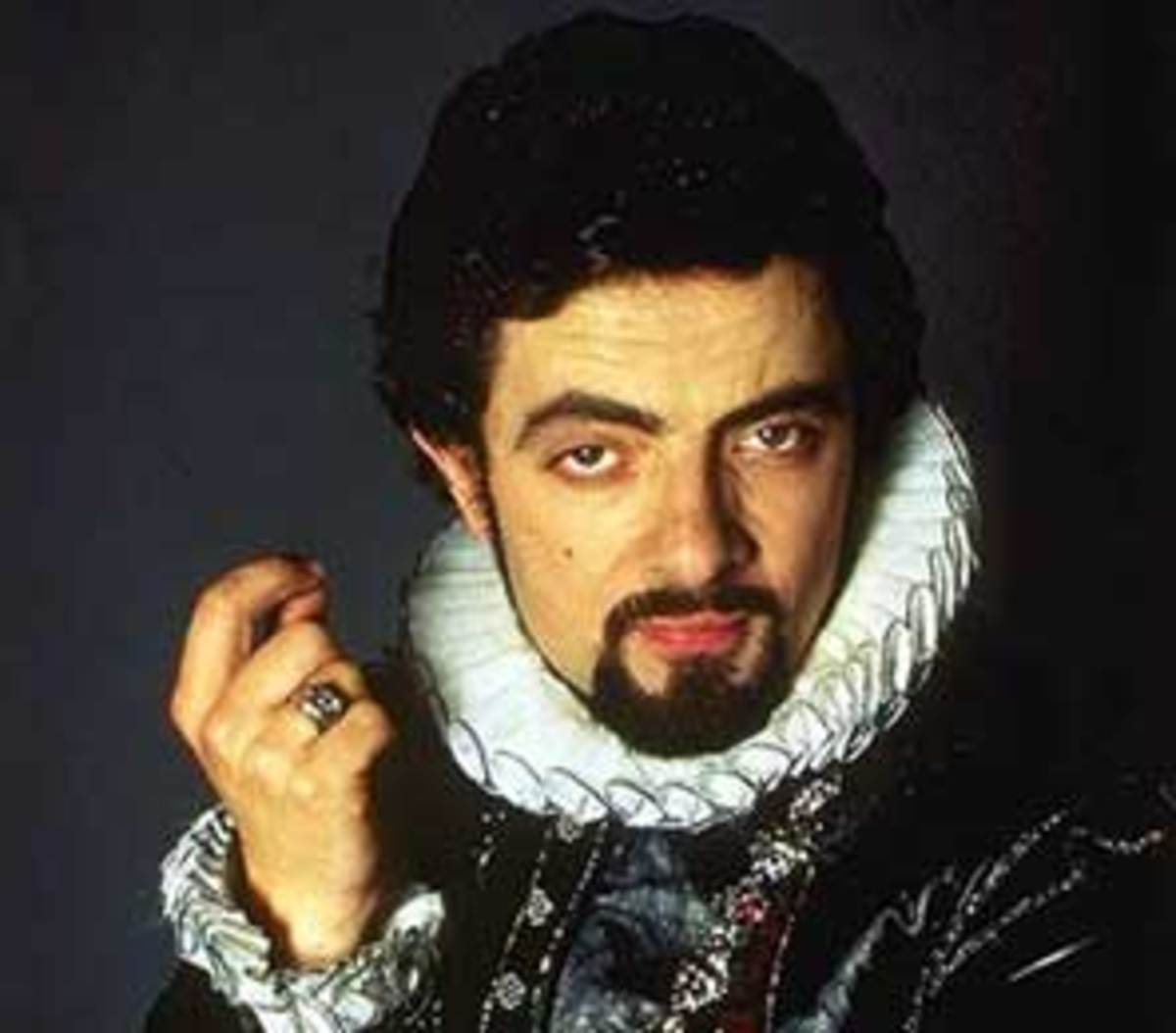 Atkinson as Lord Edmund Blackadder in the second series.