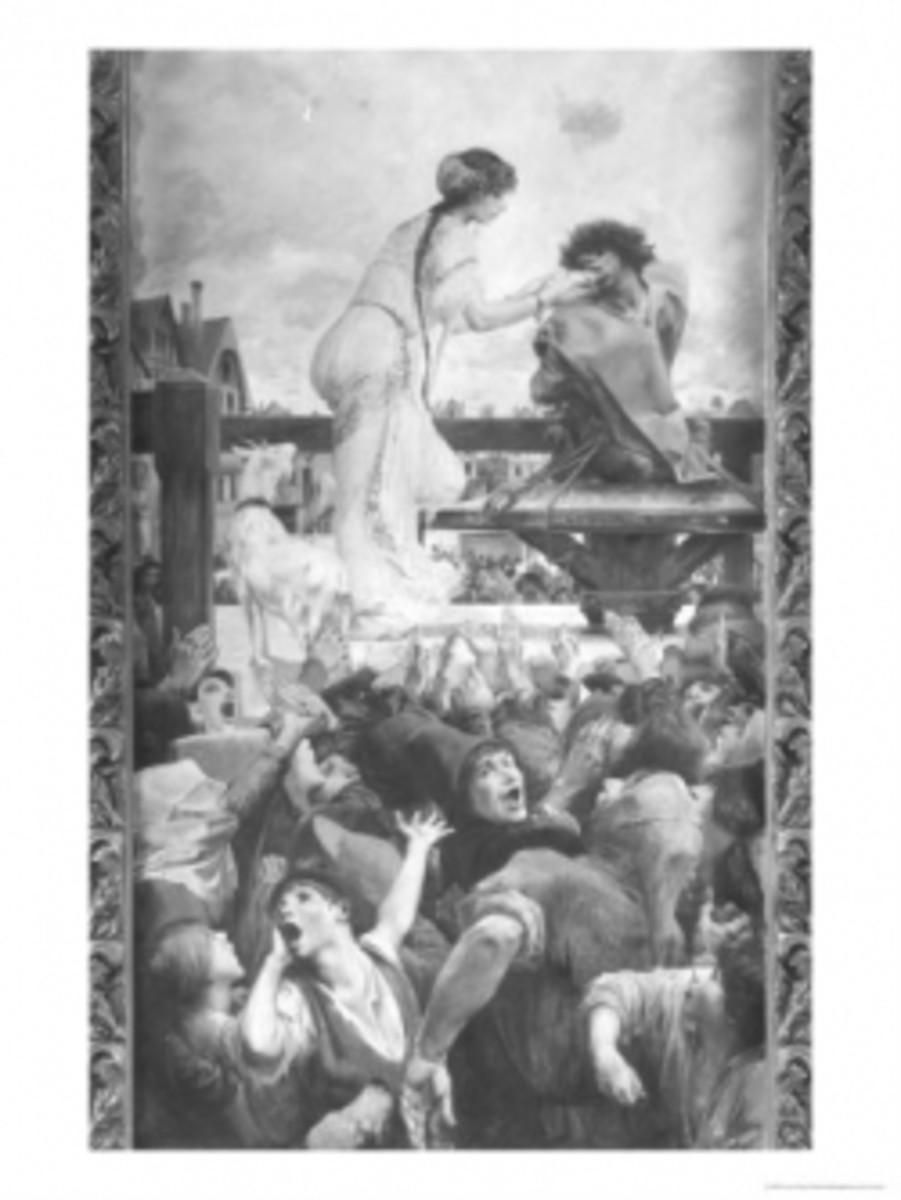Luc Olivier Mersoc 1905 Esmeralda giving Quasimodo water