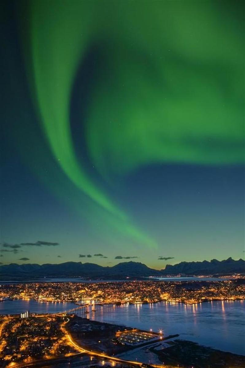 Aurora Borealis at Tromso, Norway