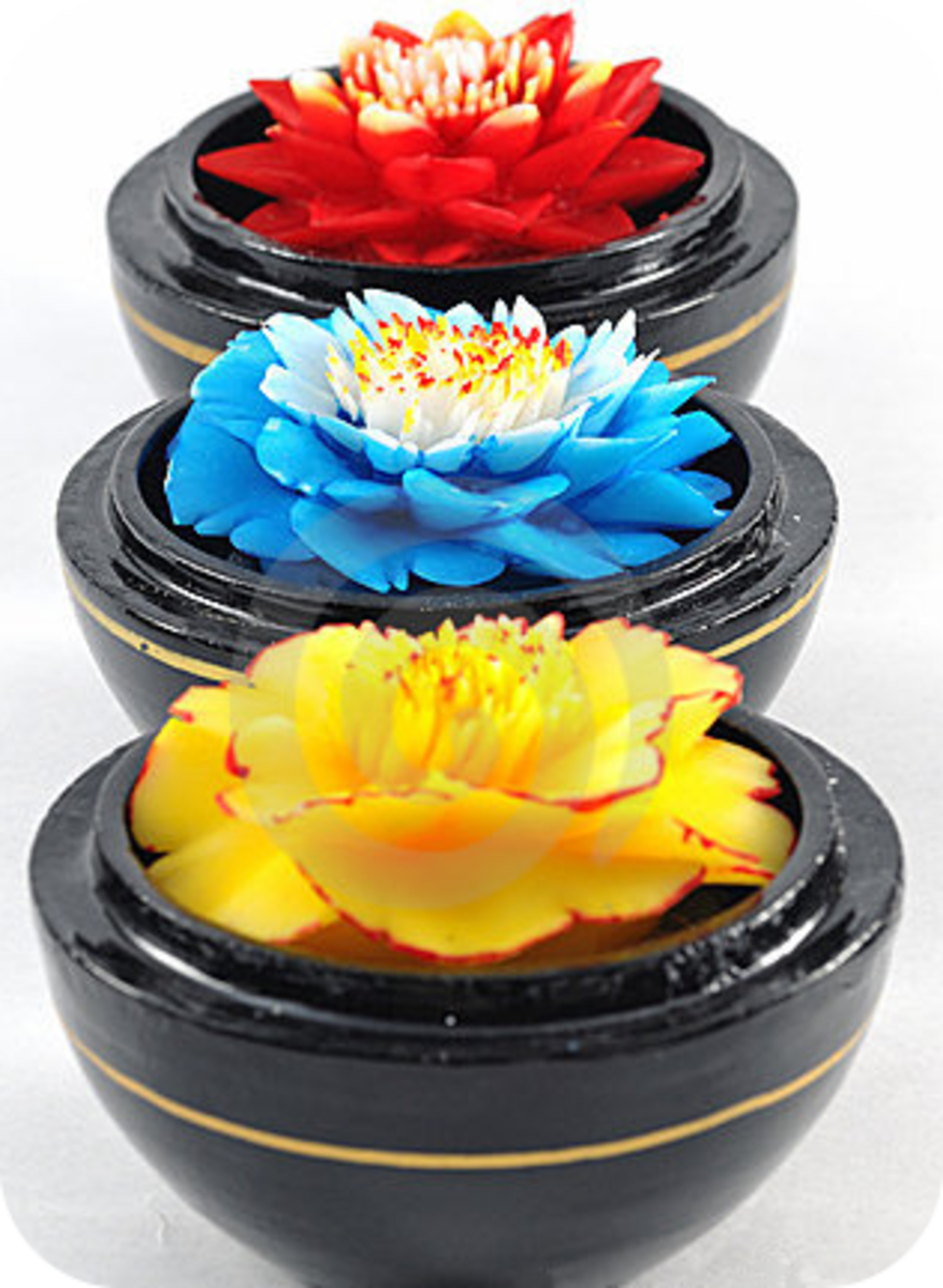 The History Of Decorative Carved Siam Soap Flowers
