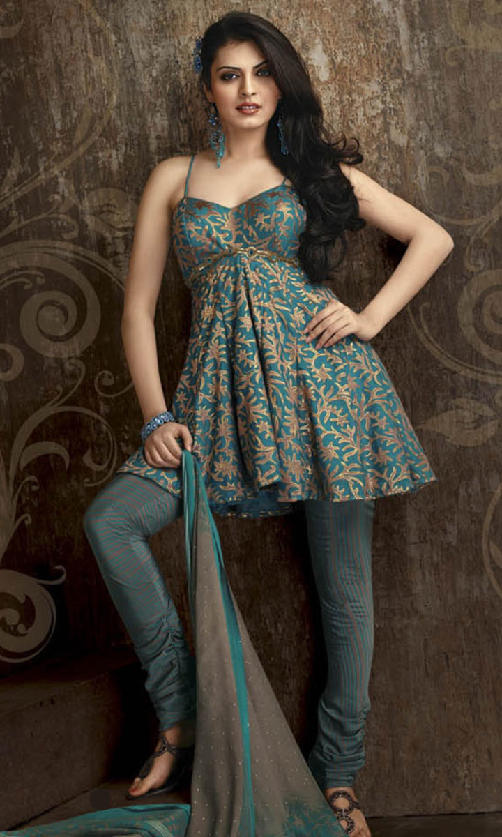 Baby Doll salwar kameez. It's cute and sexy at the same time.