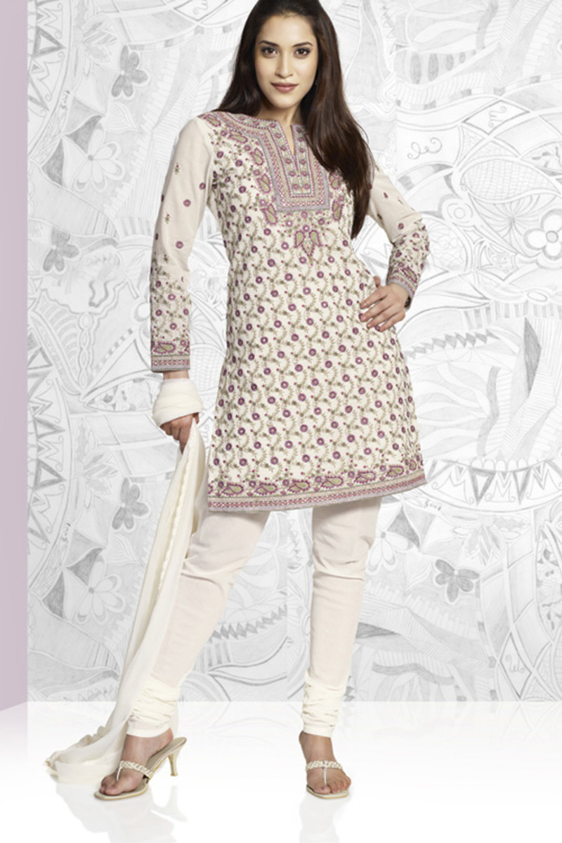 White Salwar Kameez look exceptionally beautiful