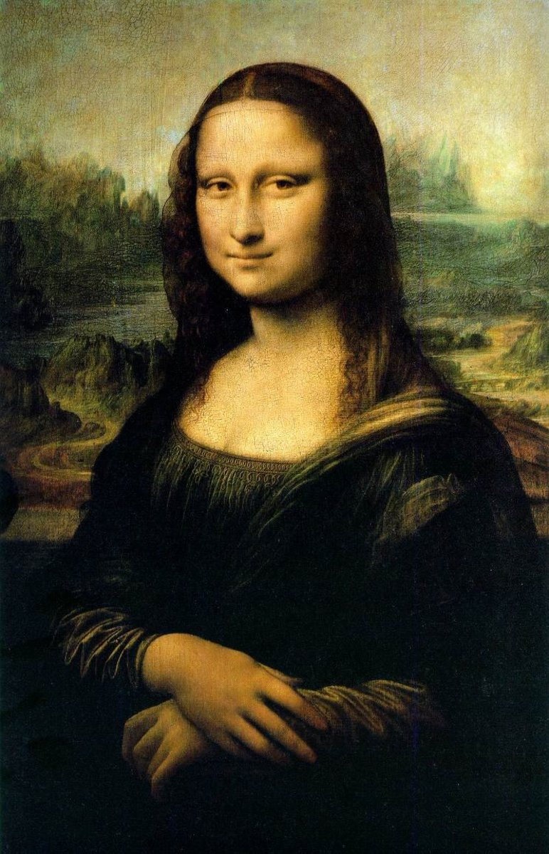 free large cross stitch pattern Mona Lisa
