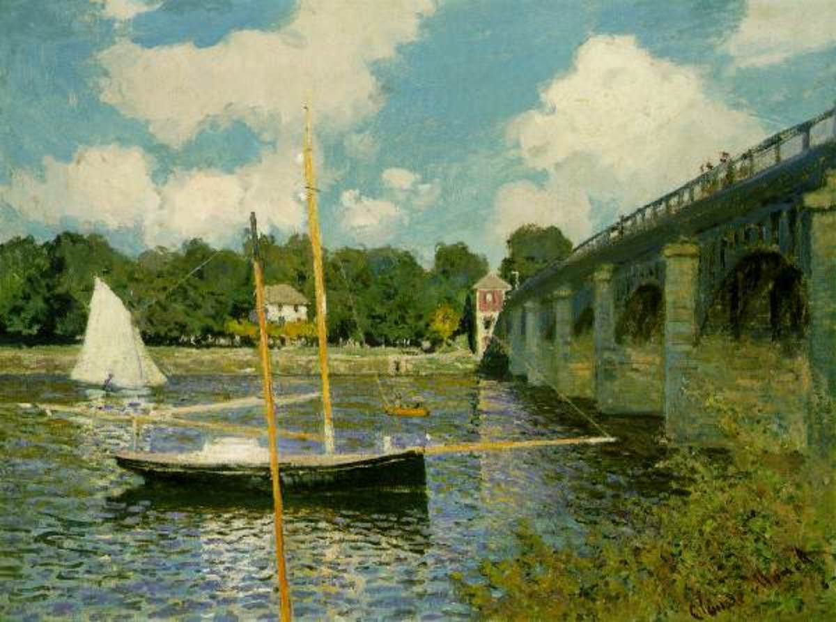 Free cross stitch pattern Monet Bridge