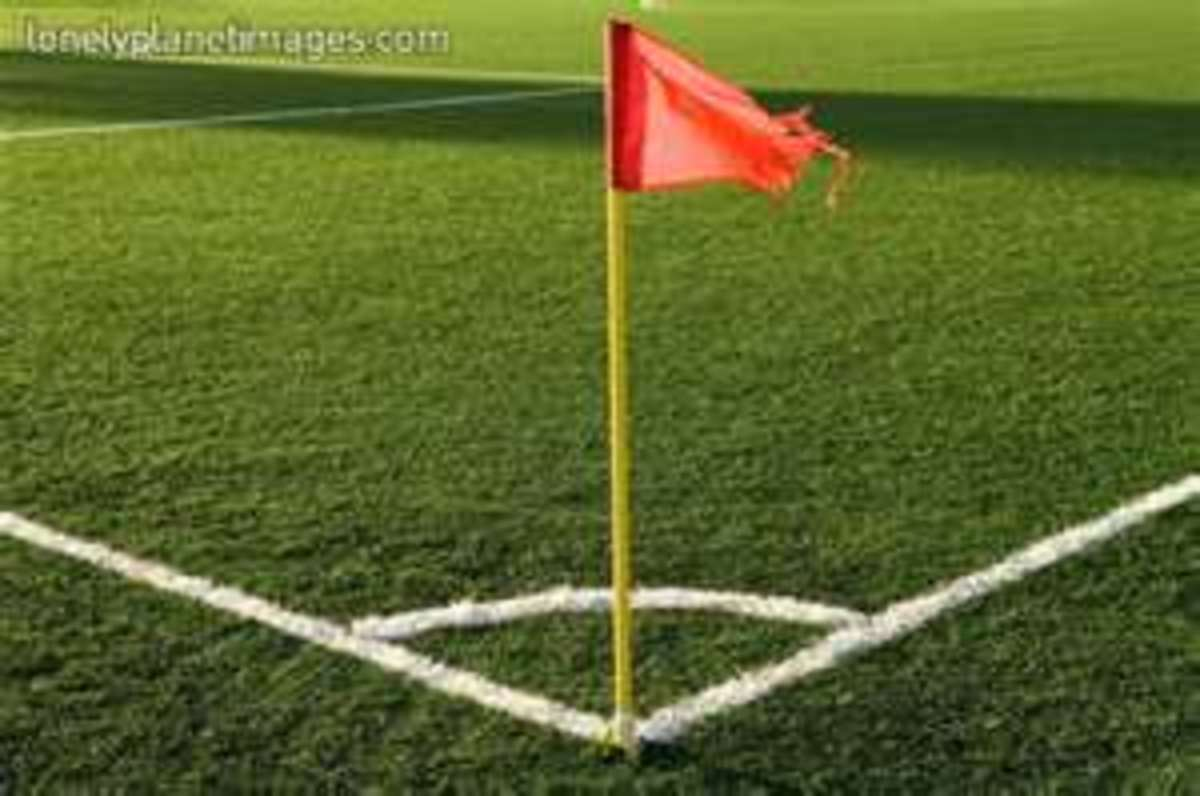 Corner flags are mandatory on the field of play.