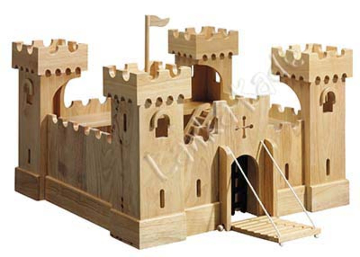 Cheap Toy Wooden Castles and Forts for Sale, Excellent Boys Christmas or Birthday Gift Ideas, Wood Castle.