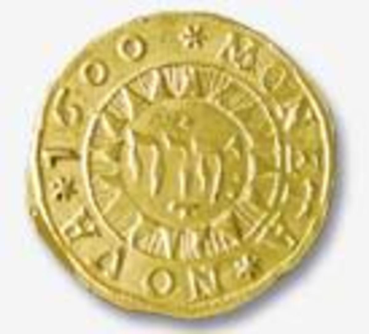 One of the many Jehovah Coins once in circulation, which are now collector items.