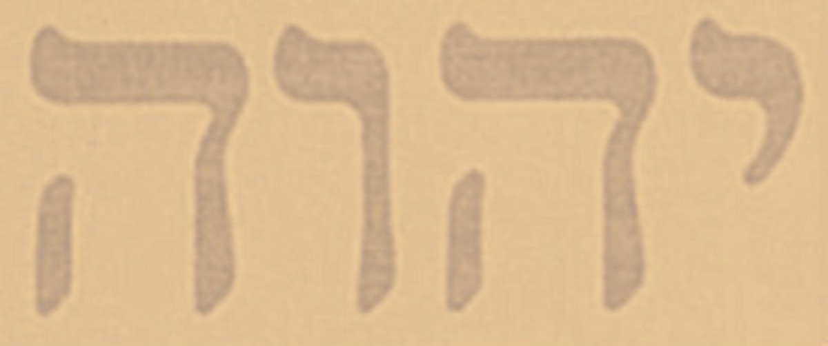 God's name in the 4 character Tetragrammaton