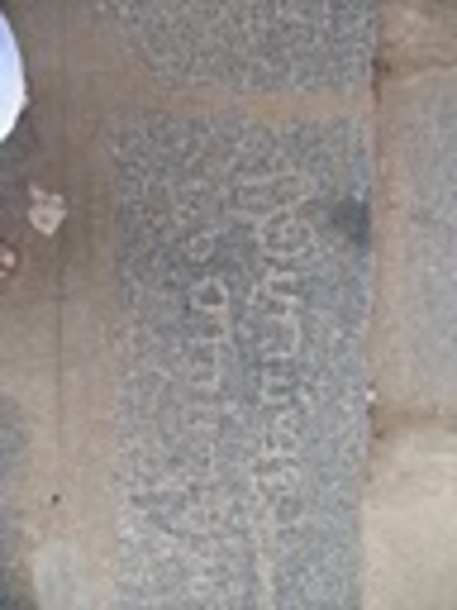 Writings on Stone found in the temple which is Over 100 years Old Temple