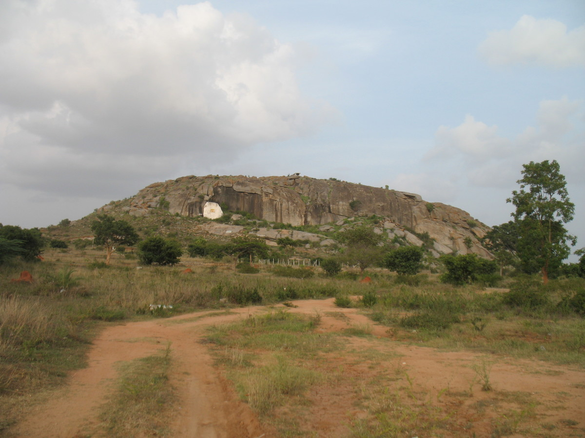 VIEW OF BRAMHA  HILL. NO STEPS it will be Rock Climbing or Trecking.