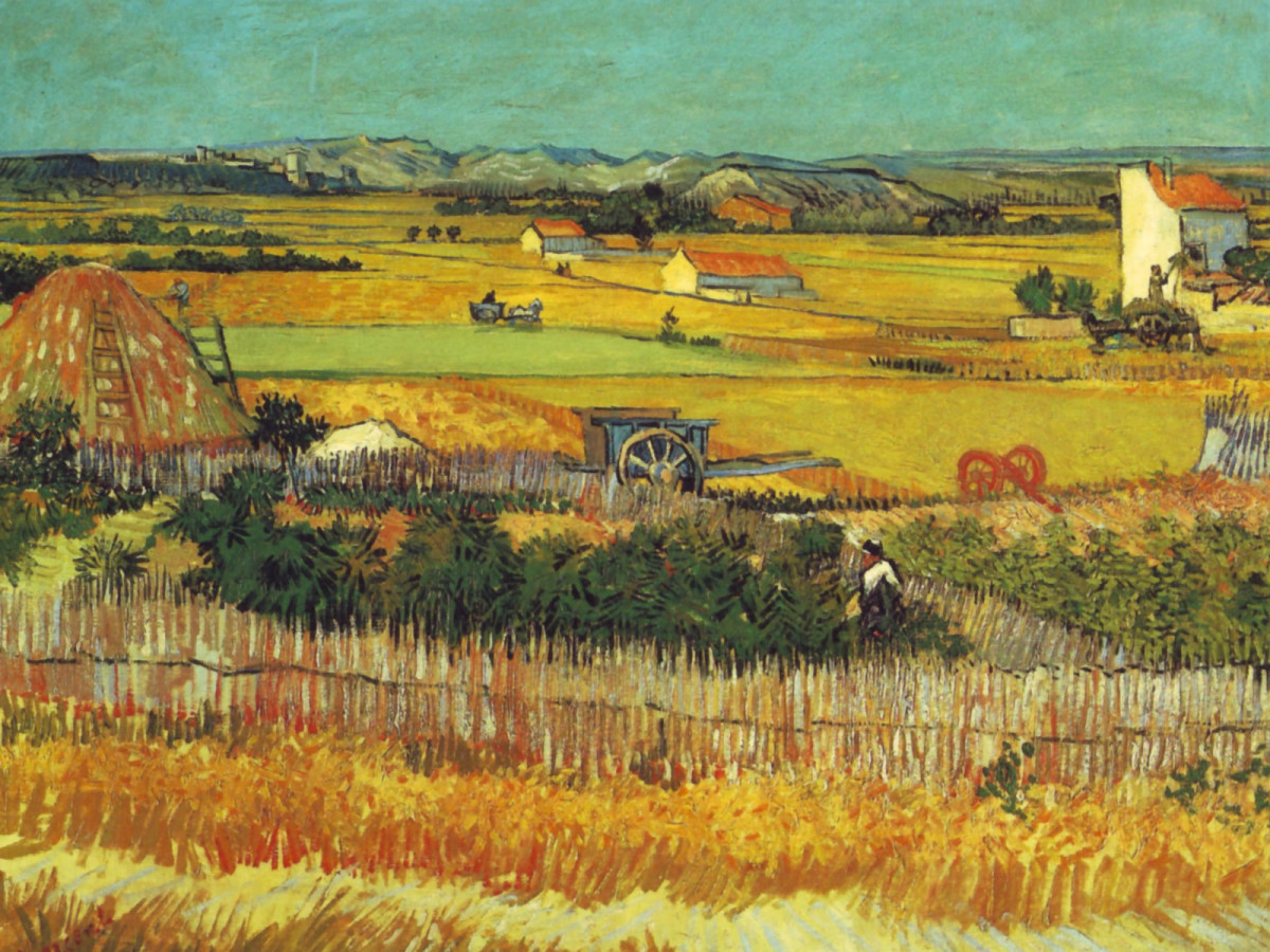 free cross stitch pattern Van Gogh Harvest
