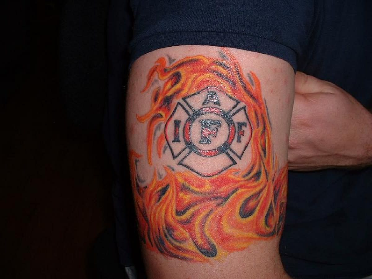 Fire and Flame Tattoo Design
