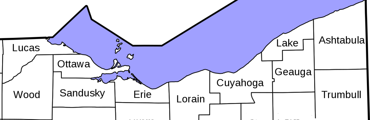 Lake Erie counties in Ohio.