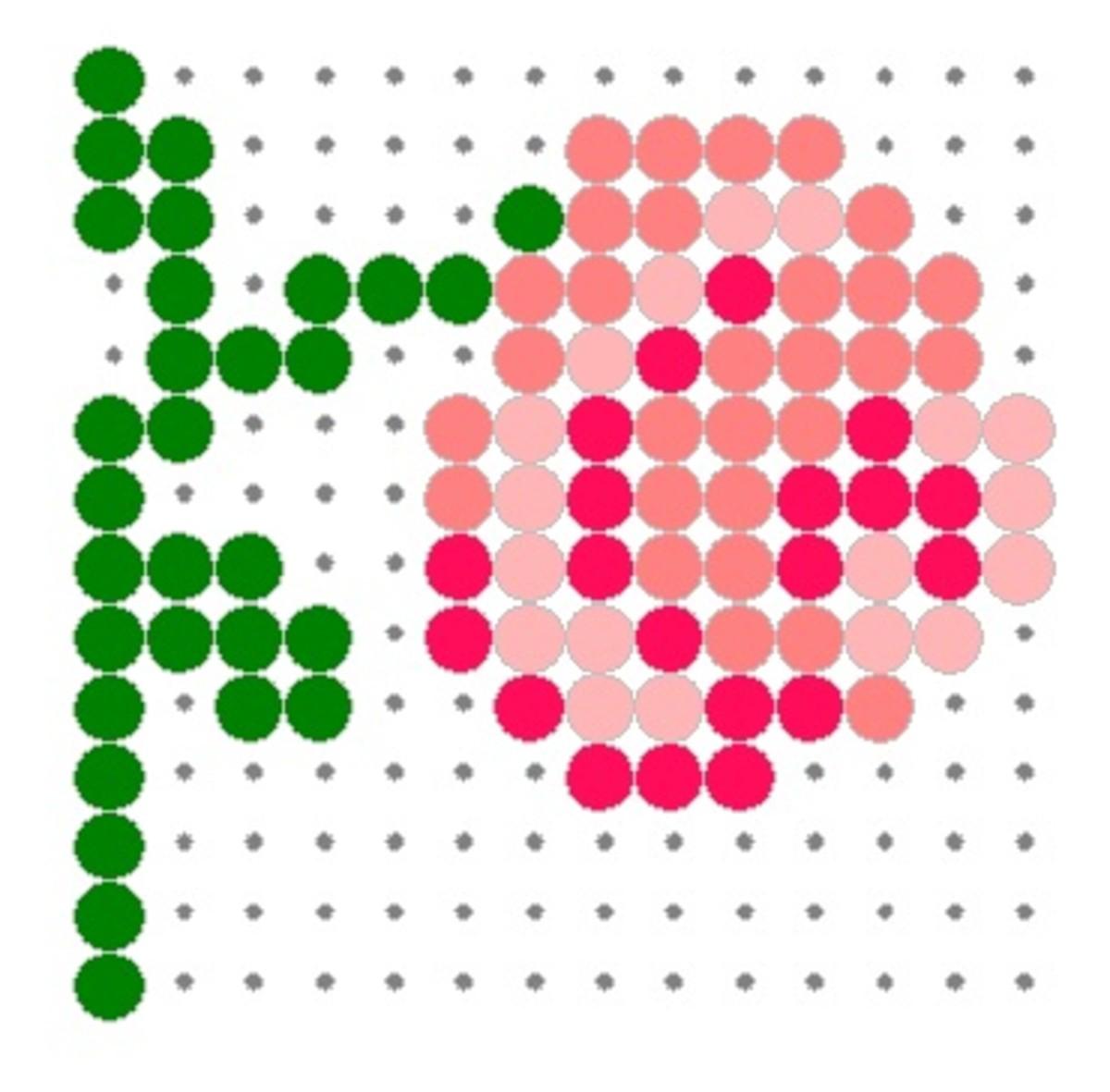 perler bead rose pattern