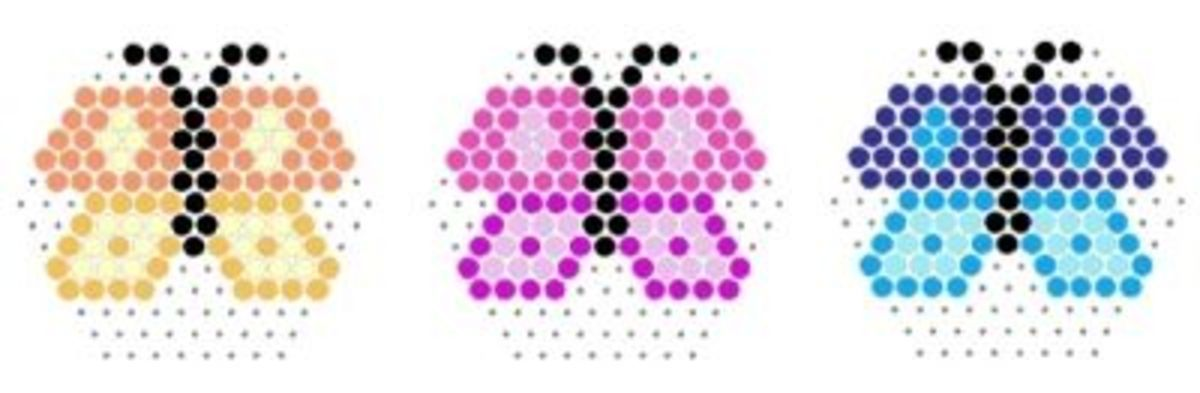 perler bead butterfly patterns