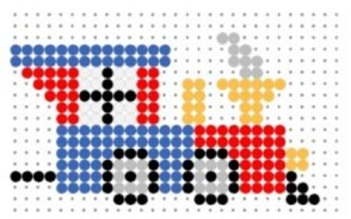 Perler Bead Transport Patterns