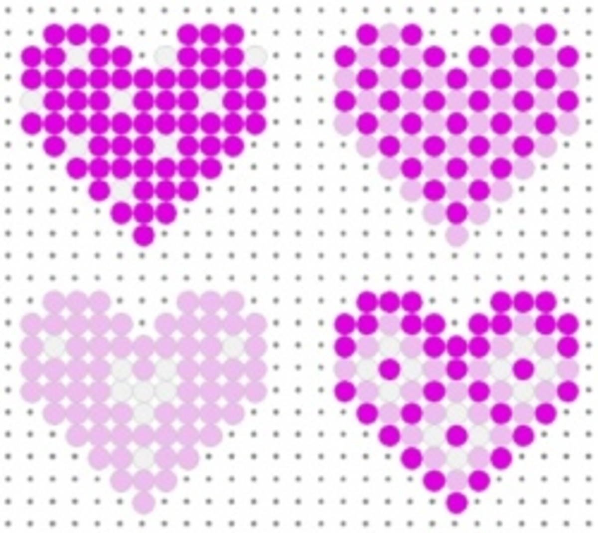 Perler Bead Heart Patterns