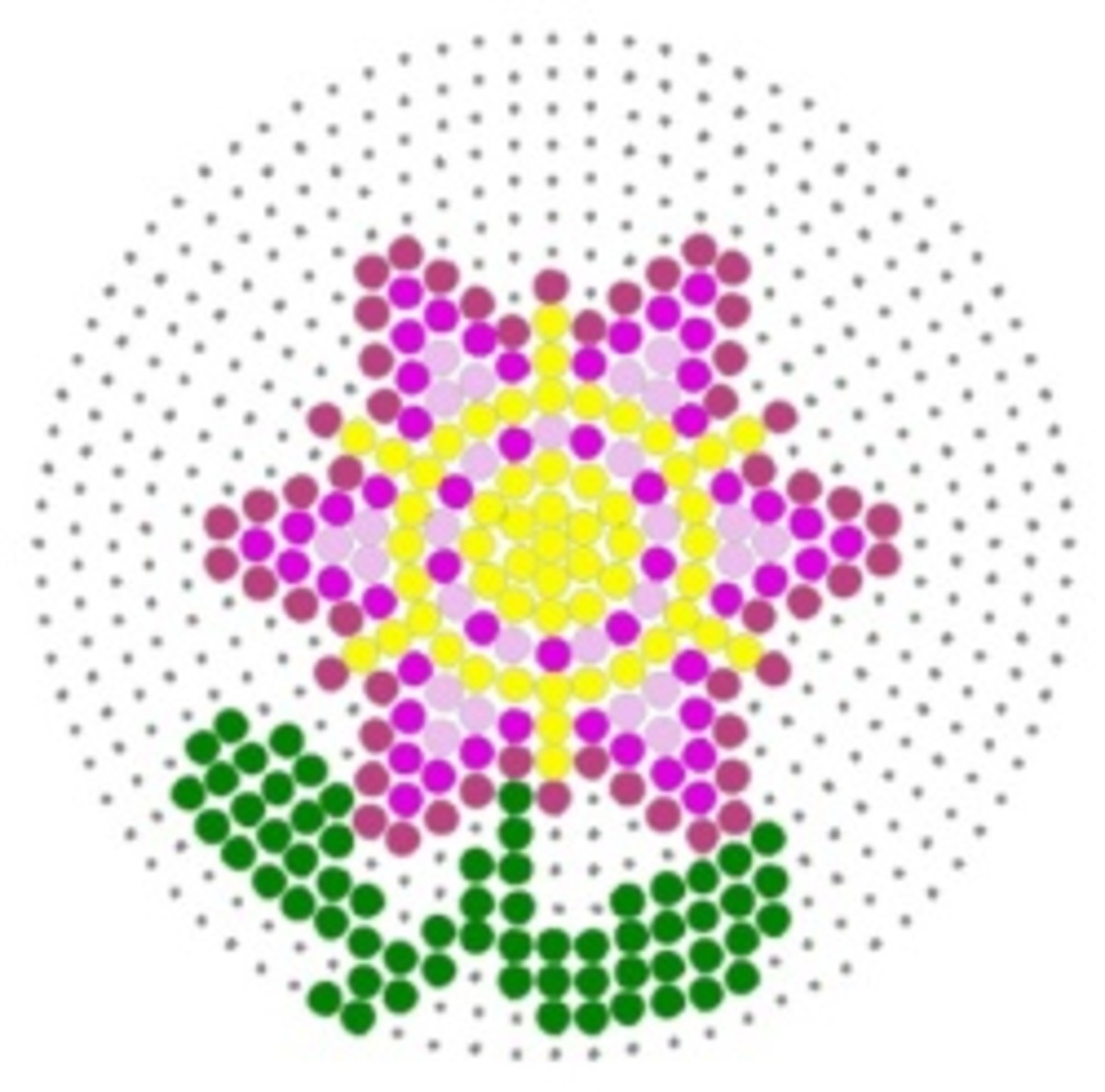 Perler Bead Flower Patterns