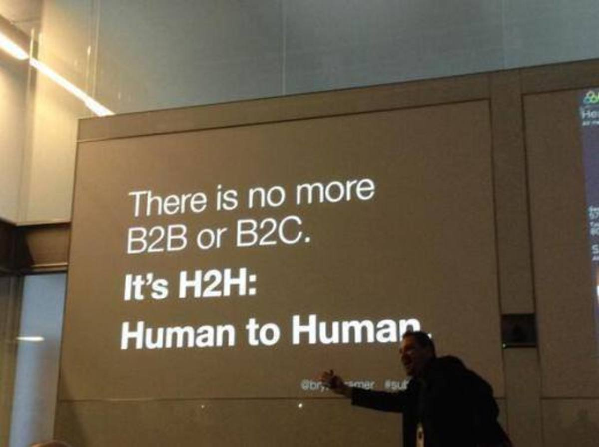 "While we are all likely familiar with the Marshall McLuhan axiom that the ""the medium is the message,"" an image that was recently posted on Google Images- Specifically the words within the image that made the assertion ""There is no more B2B or B2C. I"