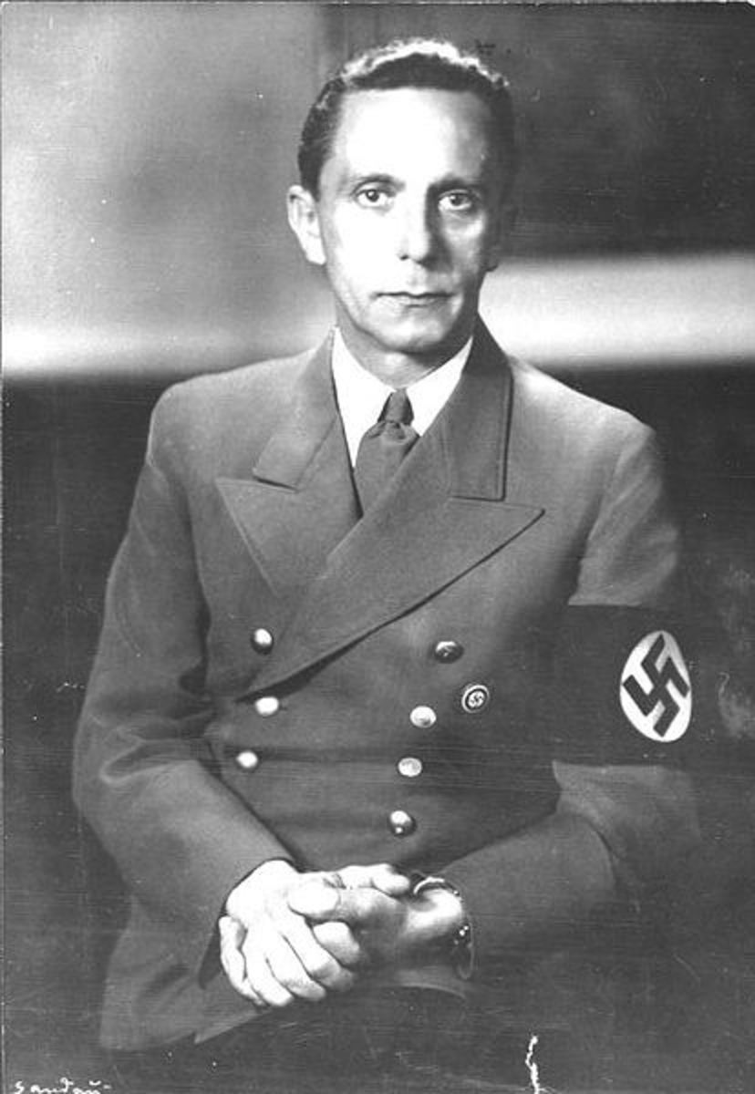 Goebbels, minister of propaganda in the Nazi regime