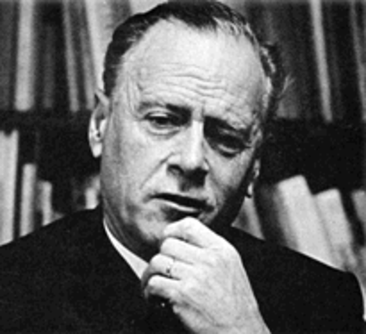 "Marshall McLuhan Has offered frequently brilliant and baffling theories about the impact of media on man. His observations  are riddled with such flambouyancy and undecipherable aphorisms:  ""The electirc light is pure information"", etc."