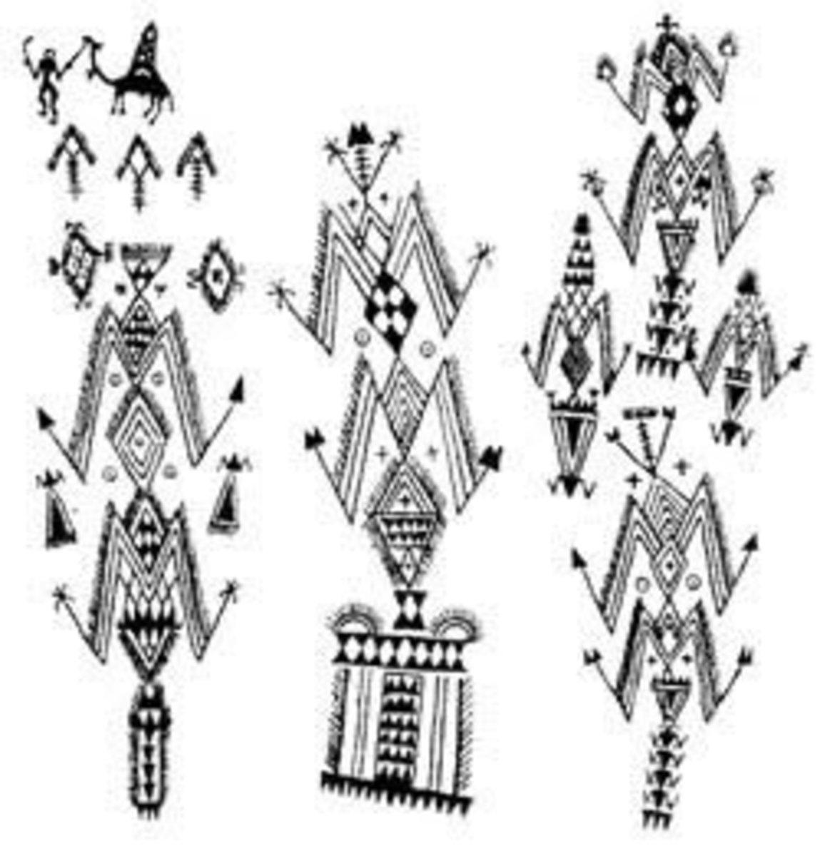 Berber tattoo marks