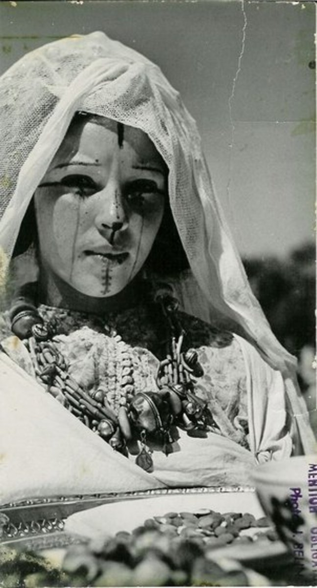 Old Photo of Berber Woman