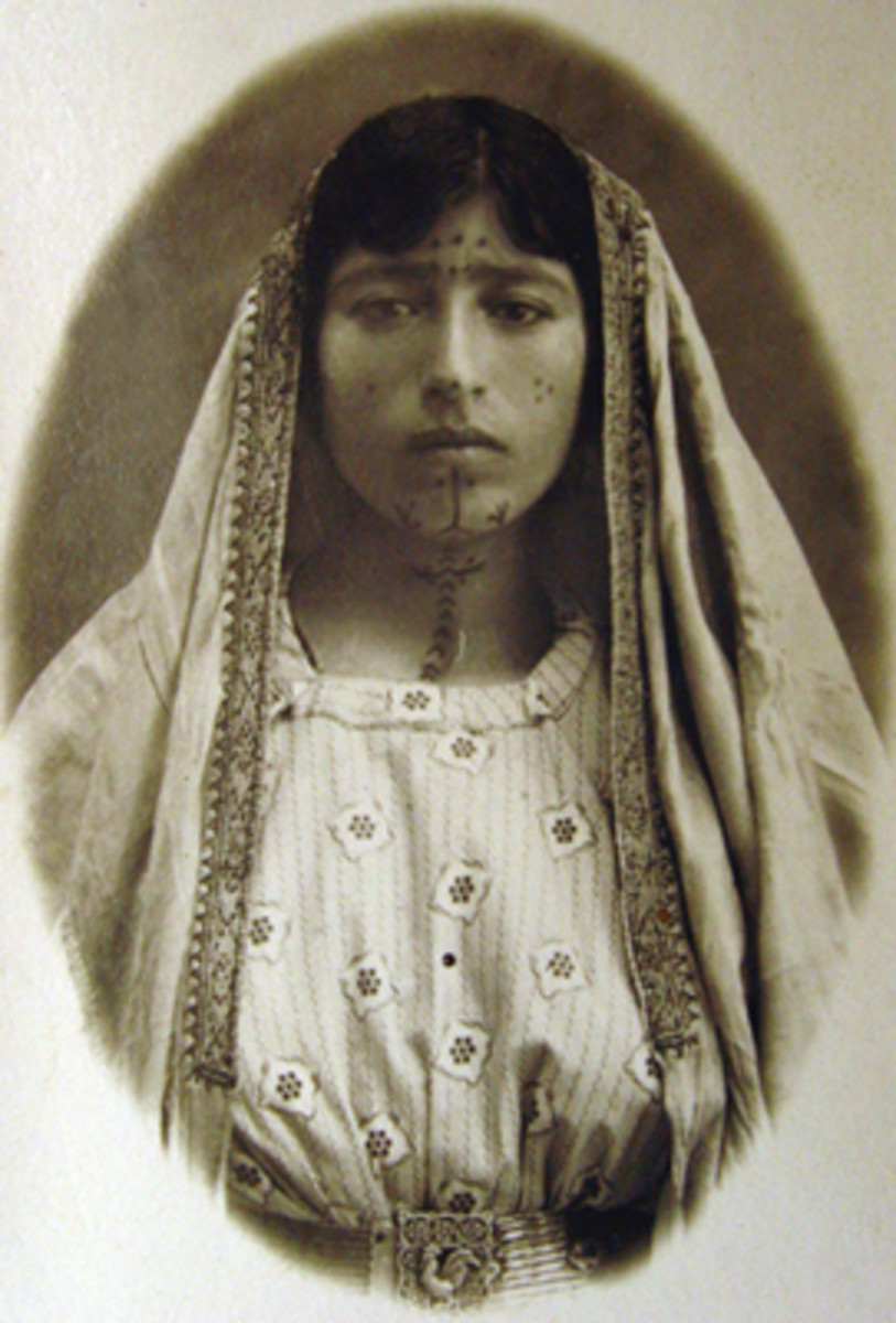 Photo from the Armenian Genocide Museum. This woman was taken into captivity and tattooed. For some, it was a mark of shame after they were liberated.