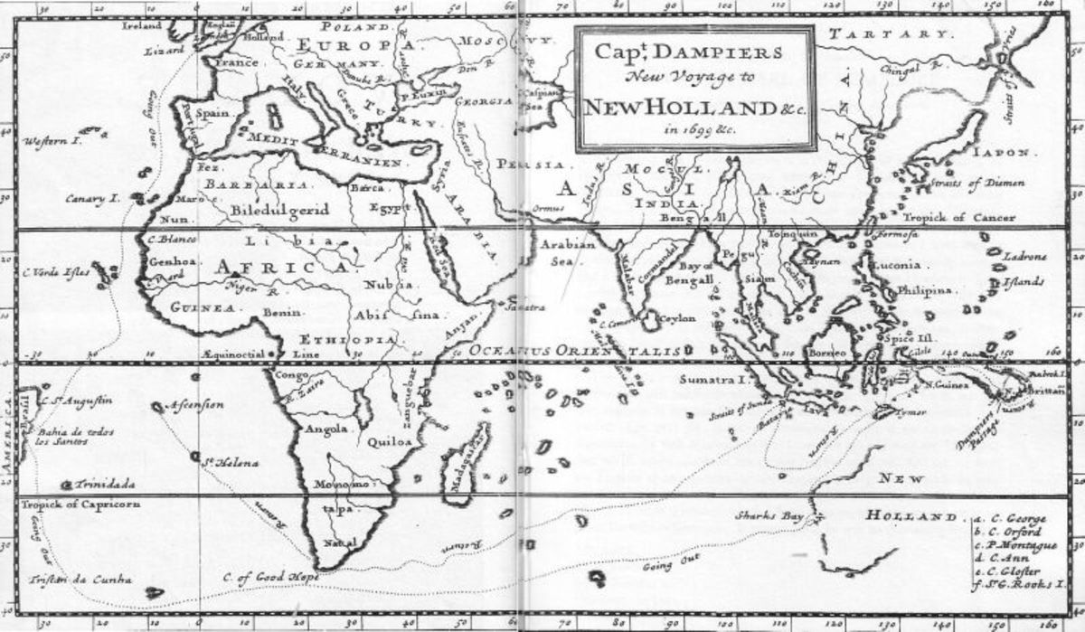 William Dampier Voyage to Australia 1699 CE