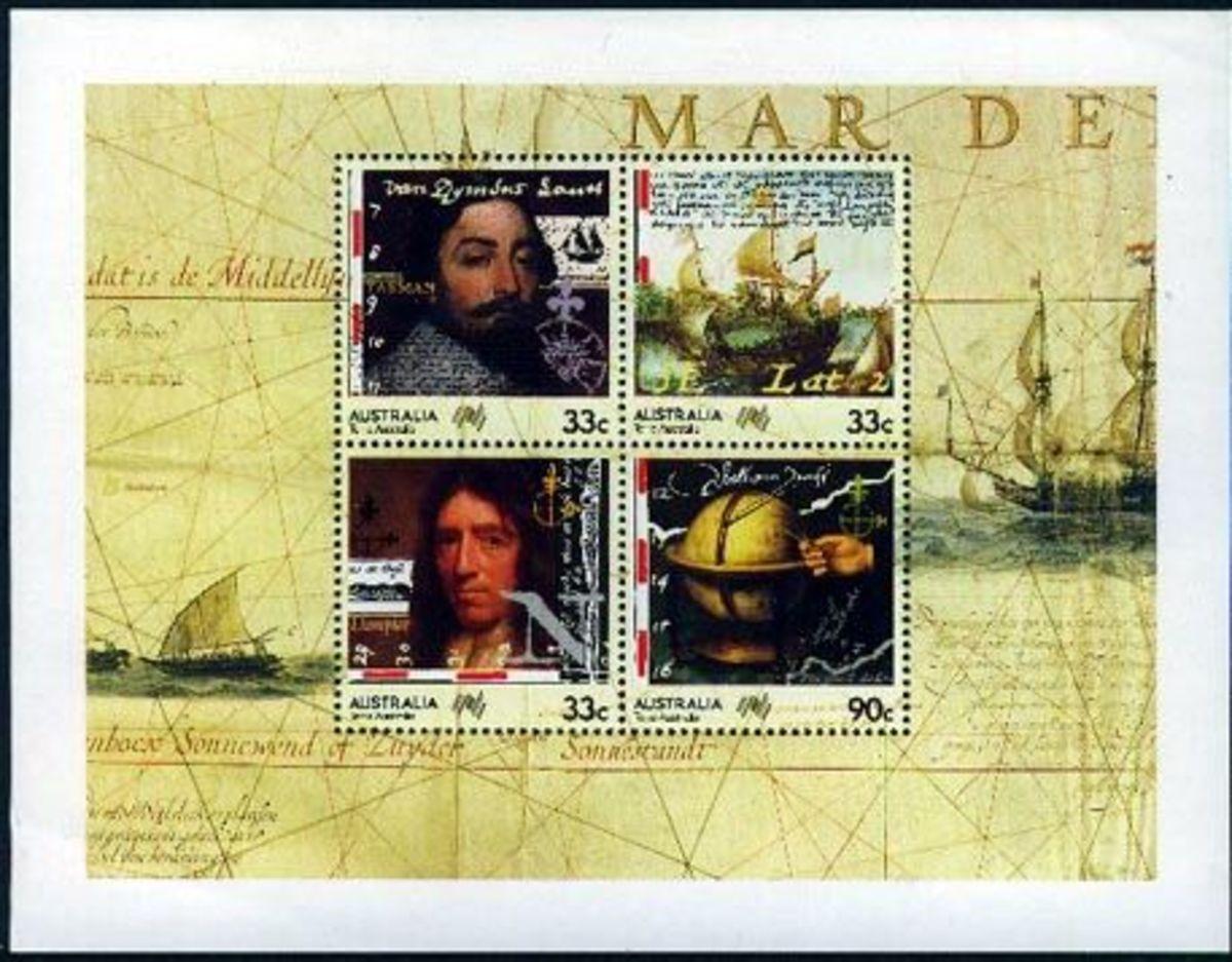 Australian stamps - Dampier and Tasman - 1985