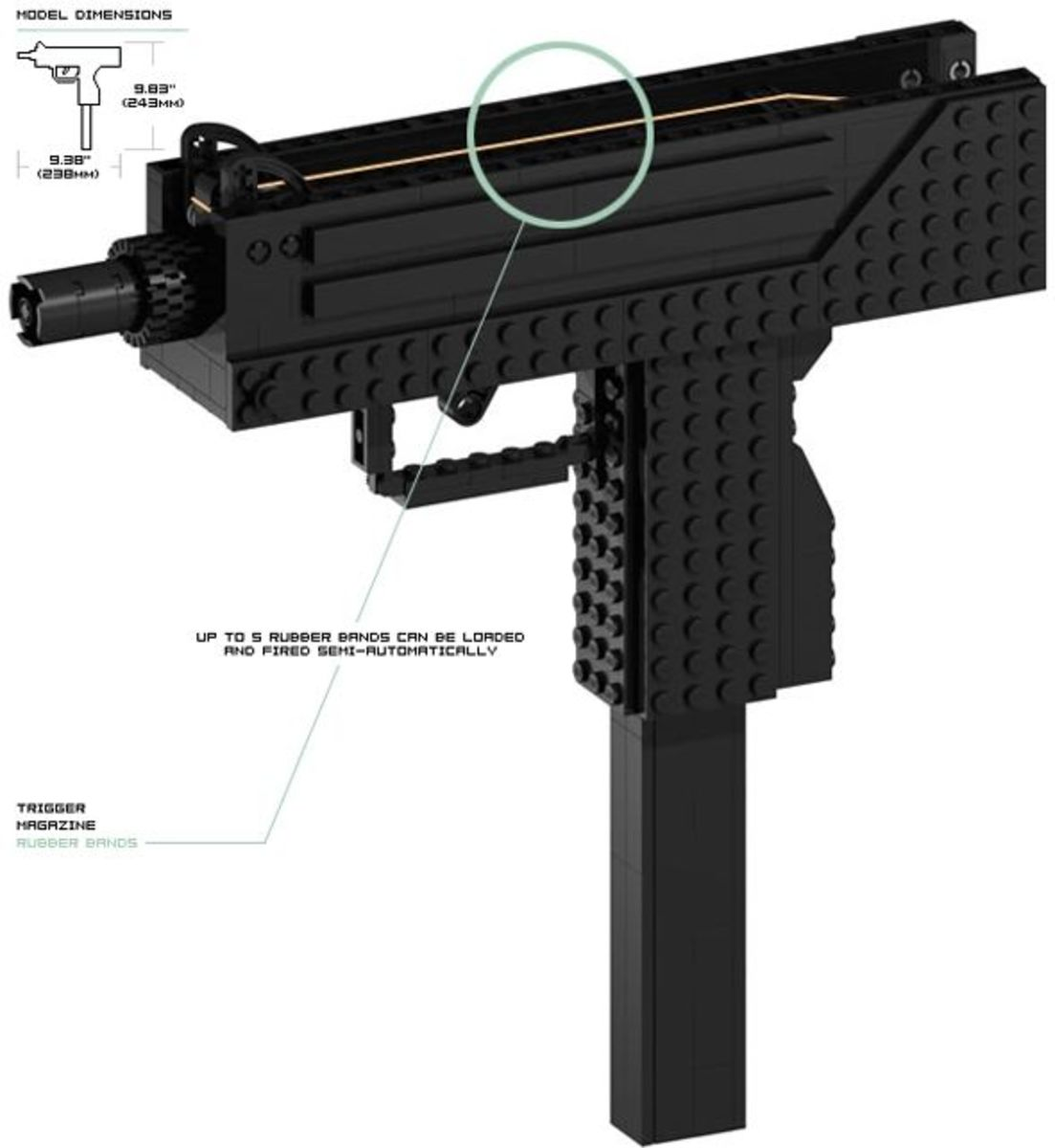 how to make a lego gun that shoots easy