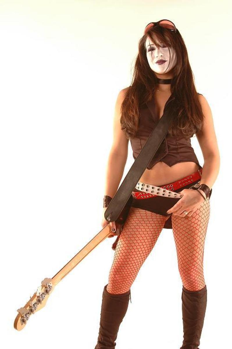 Miss Crazy's original bass player, Kim Racer.