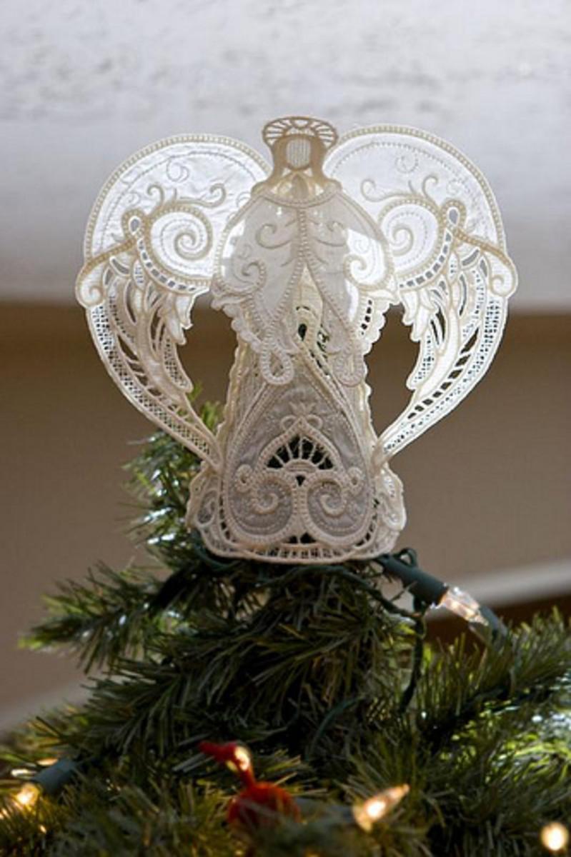 Beautiful Angel Christmas Tree Topper