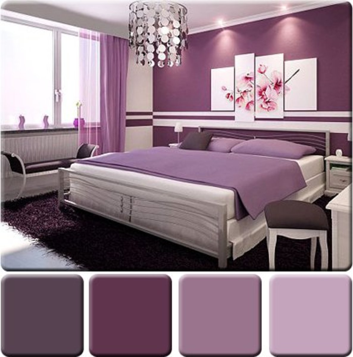 Monochromatic color scheme for interior design Interior colour design