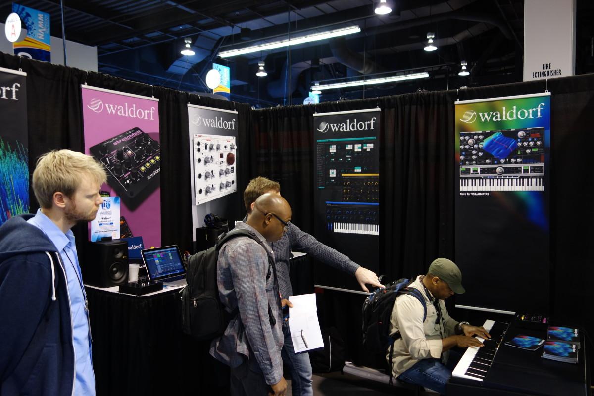 2015 NAMM Show - Waldorf Music booth - Waldorf Zarenbourg virtual electric piano