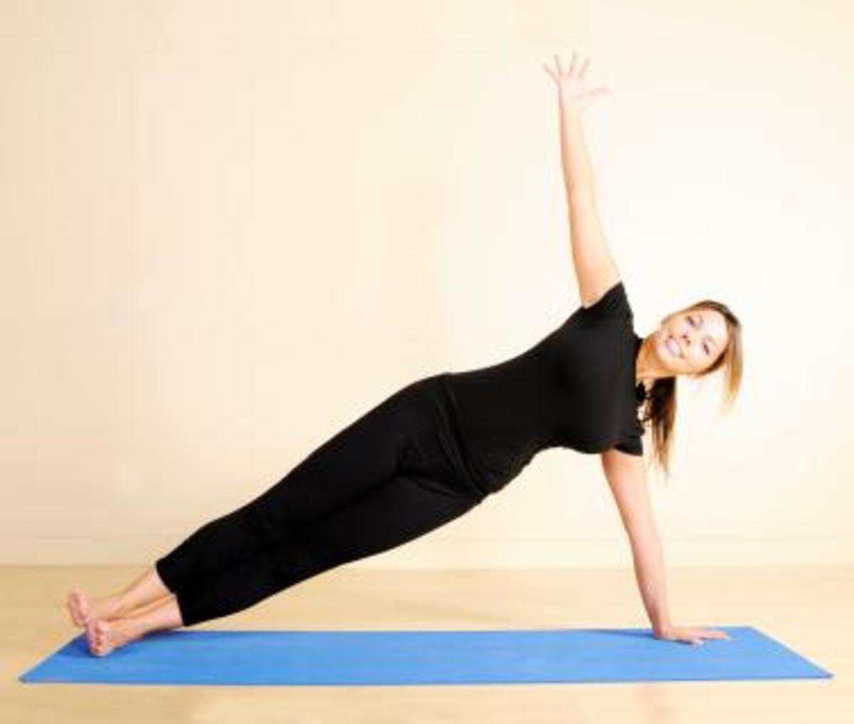 Yoga Exercise Position by Pretty Blond