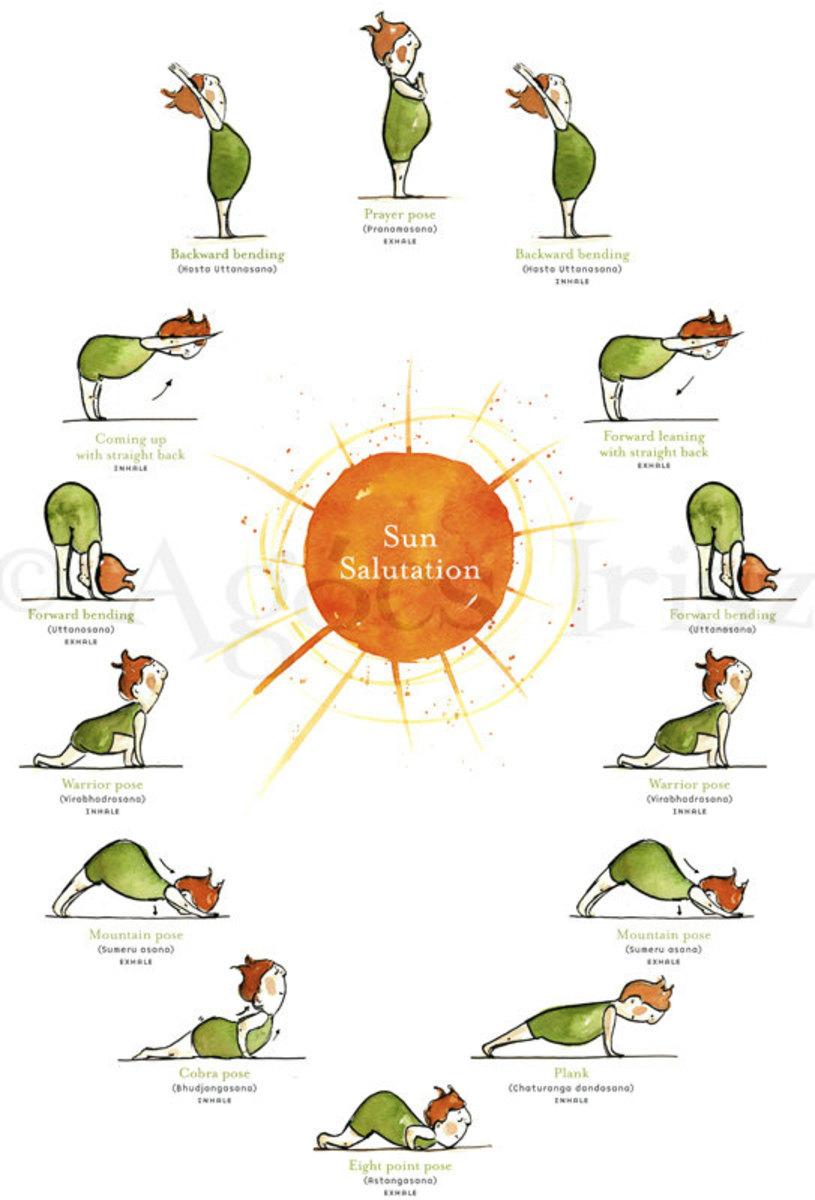 Sun Salutations Yoga Poster