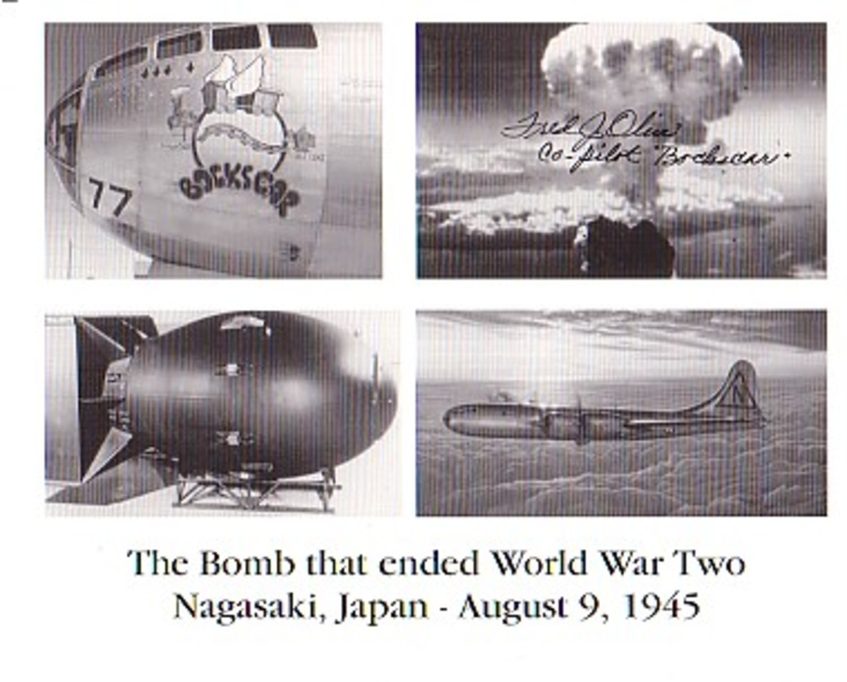 """The plane Boxcar dropped the second bomb code named """"Fat Man."""""""