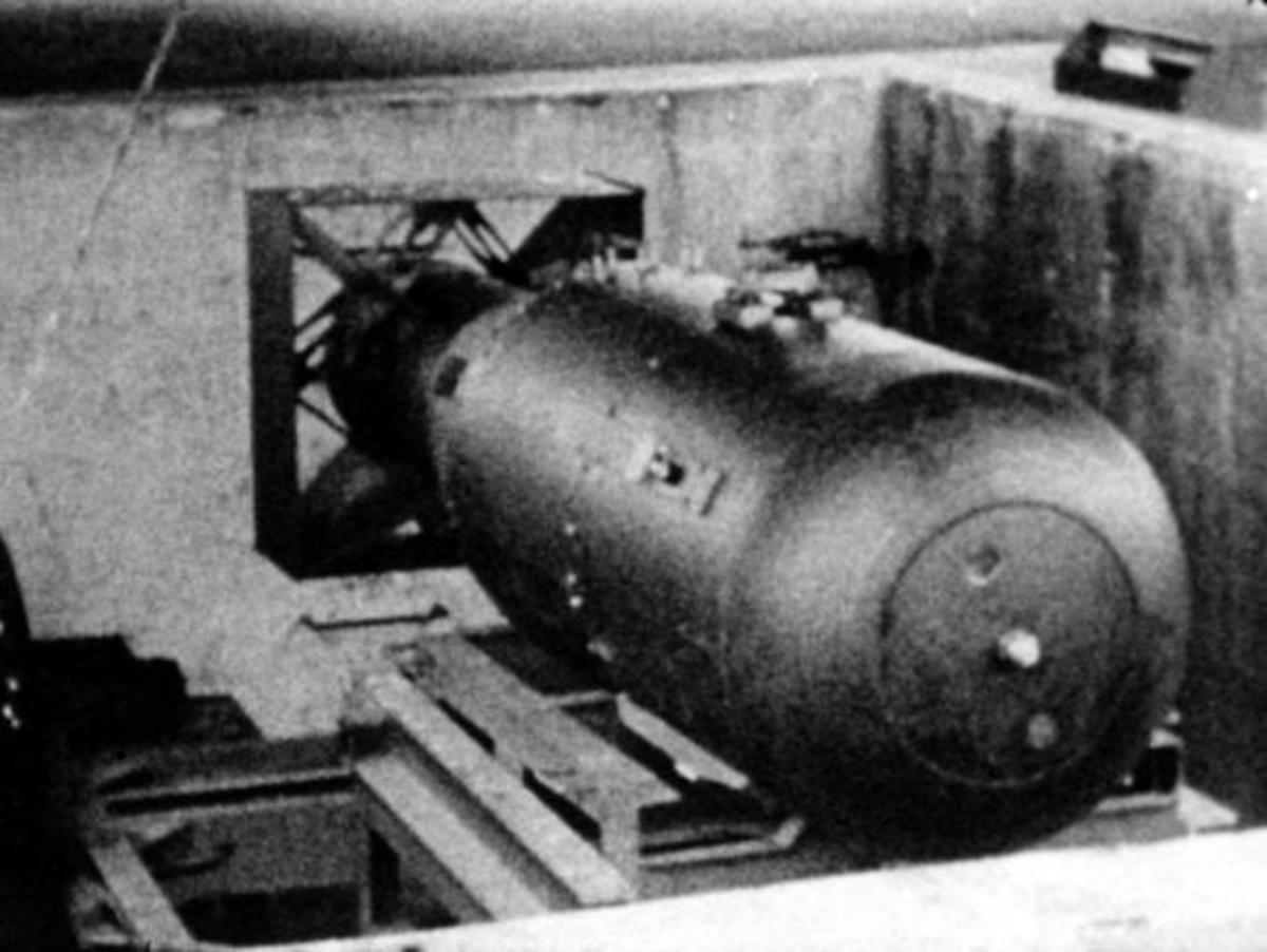 """""""Little Boy"""", the first atomic bomb to be dropped."""