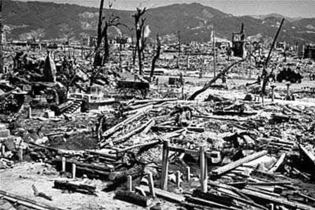 The ruins of Hiroshima.