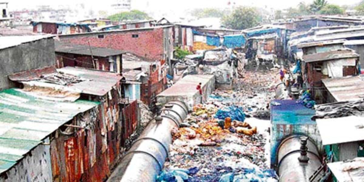 Dharavi, the largest slum in Asia.