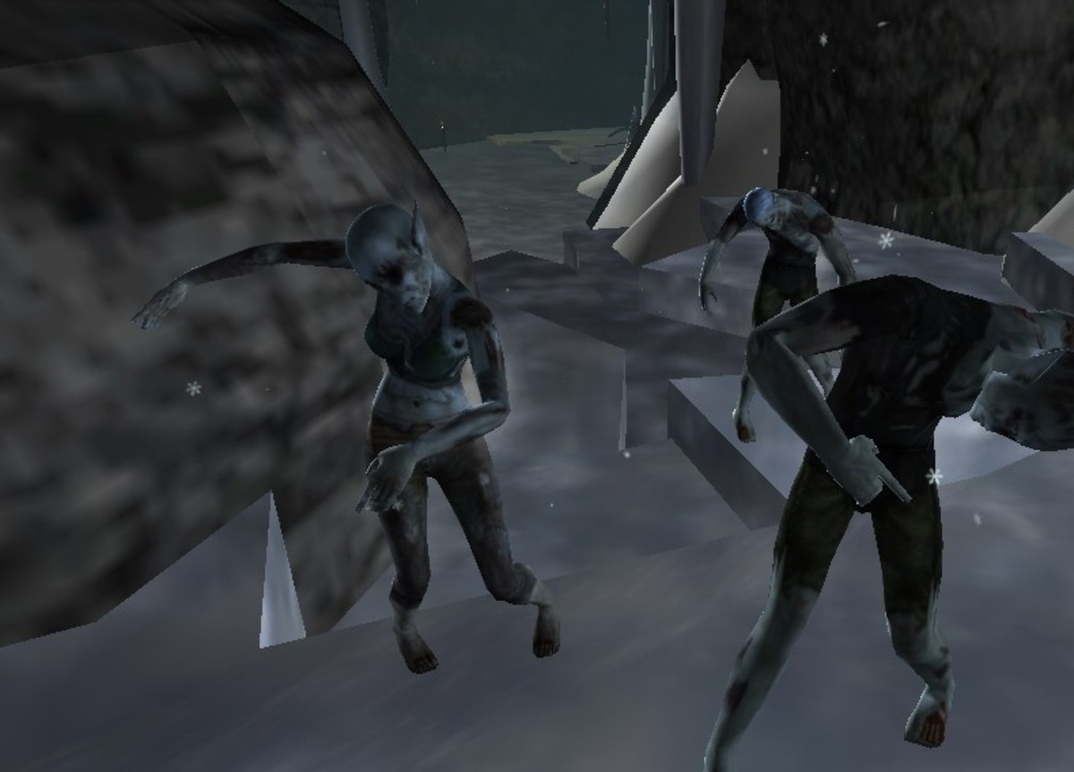 There are plenty of low level undead to fight, like these elf zombies.
