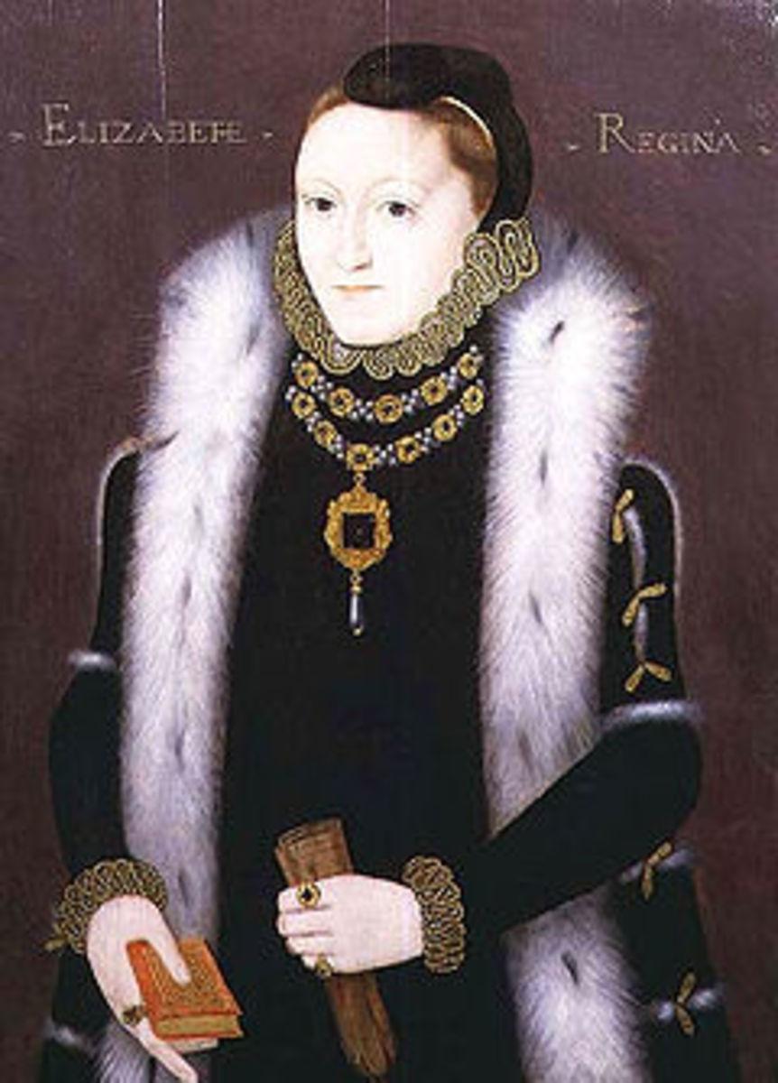Elizabeth painted in 1560