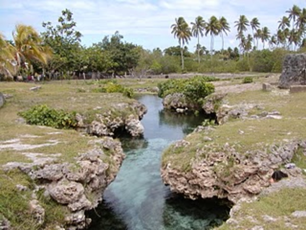 Fresh water spring in Niuatoputapu