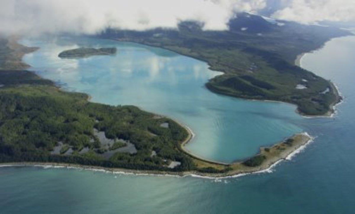 Lituya Bay in Alaska saw the world's biggest ever tsunami in 1958