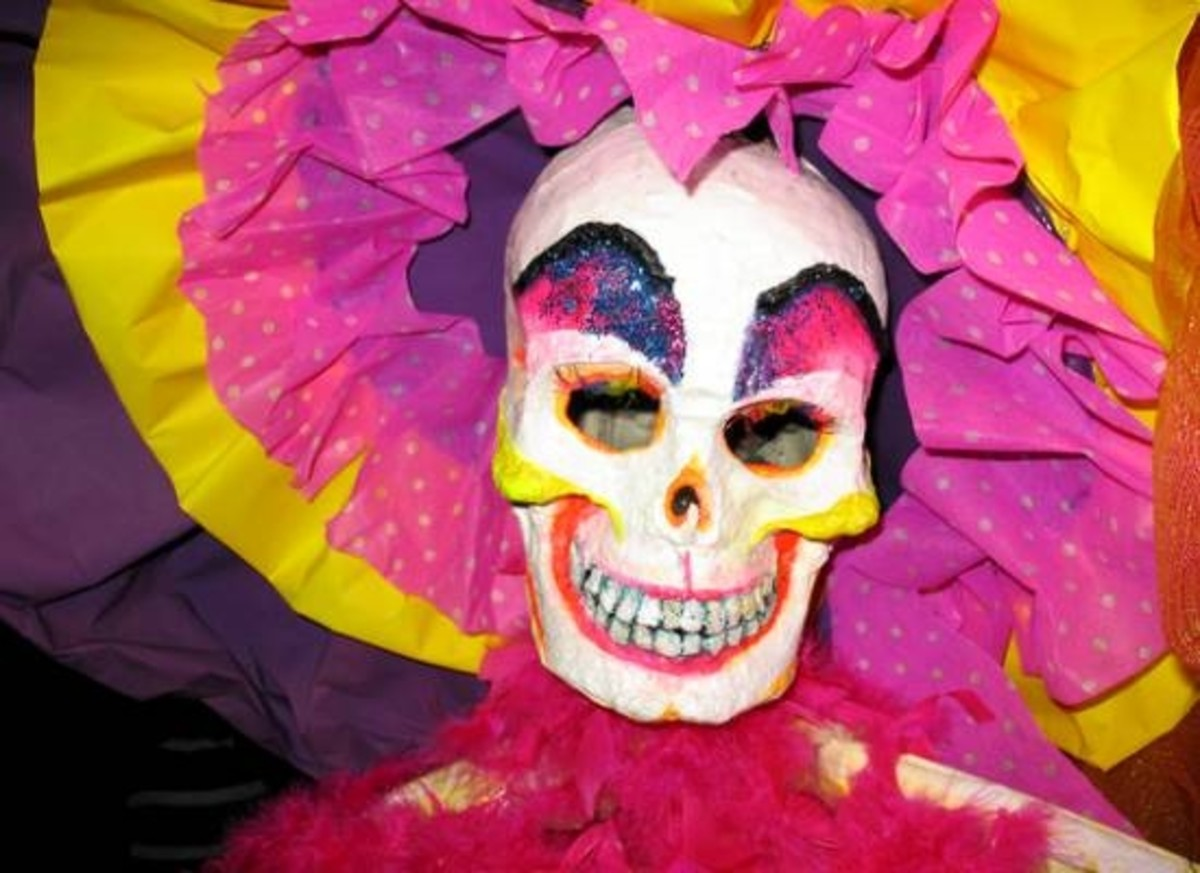 Brightly Colored Skeleton Mask